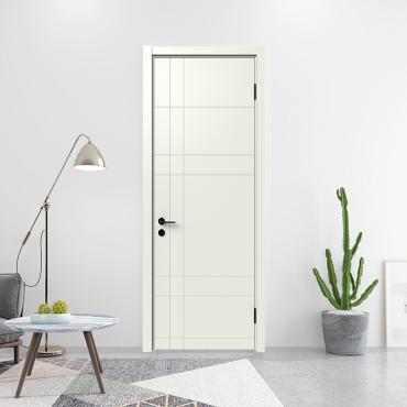 派的门实木复合门MA-003 淡雅奶白|烟熏色|轻奢灰|燕麦色|金丝樱桃