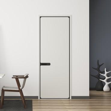 派的门,免漆实木复合门 MQ-001 无界 淡雅奶白|轻奢灰|烟熏色|燕麦色|金丝樱桃