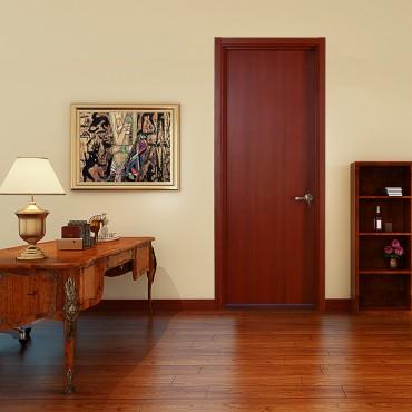 派的门实木复合门PAD001绫罗红