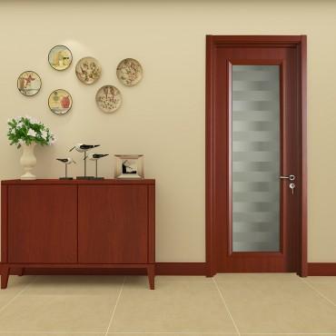派的门实木复合门PBL001绫罗红
