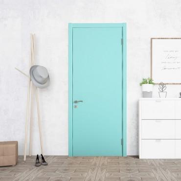 派的门新品油漆木门99分白99A-0(蓝)
