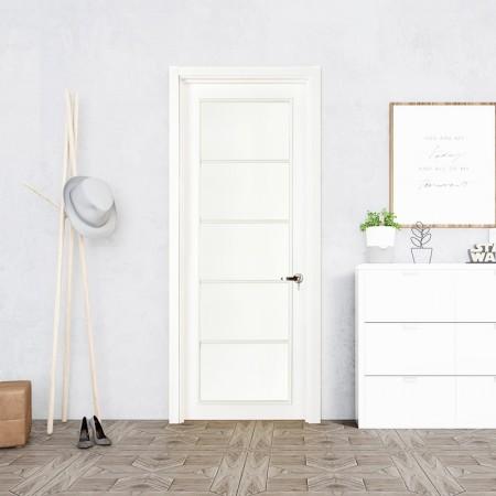 派的门实木复合门PBL010瓷白