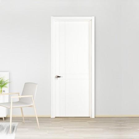 派的门实木复合门PV007相守-瓷白