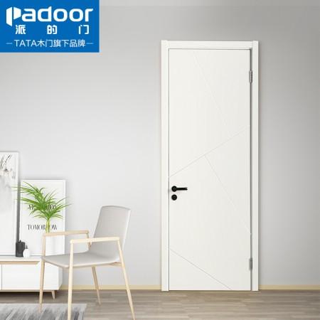 派的门,实木复合门,MA-005瓷白,卧室门