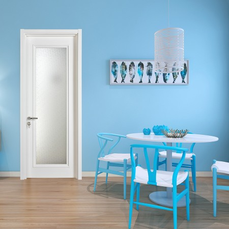 派的门实木复合门PVB001曲婉-瓷白