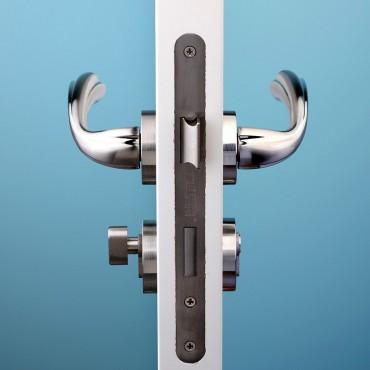 派的门标准五金锁具PD018银色(不单卖、不含门吸)