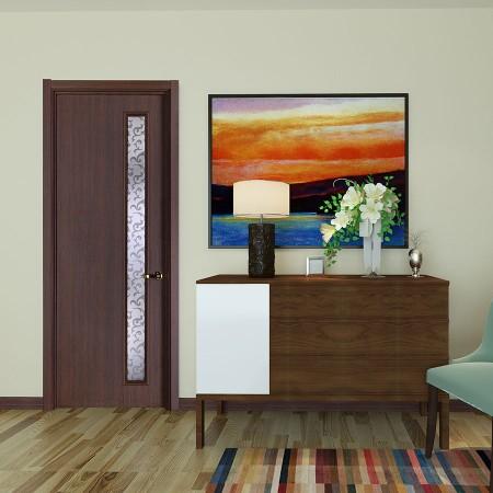 派的门实木复合门MA-013B金胡桃