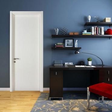 派的门实木复合门PV002星迹-瓷白