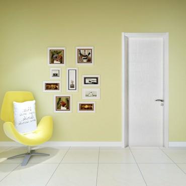 派的门实木复合门PV009双子-雪影