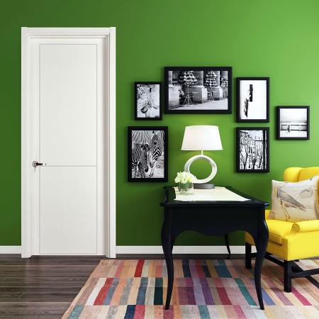派的门实木复合门PV013唯一-瓷白