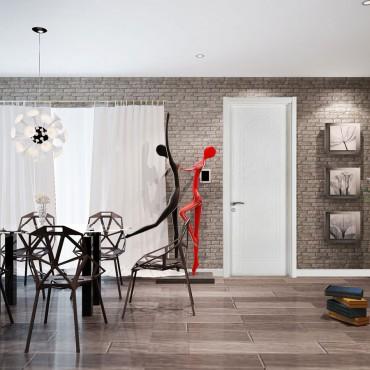 派的门实木复合门PV016记忆-雪影